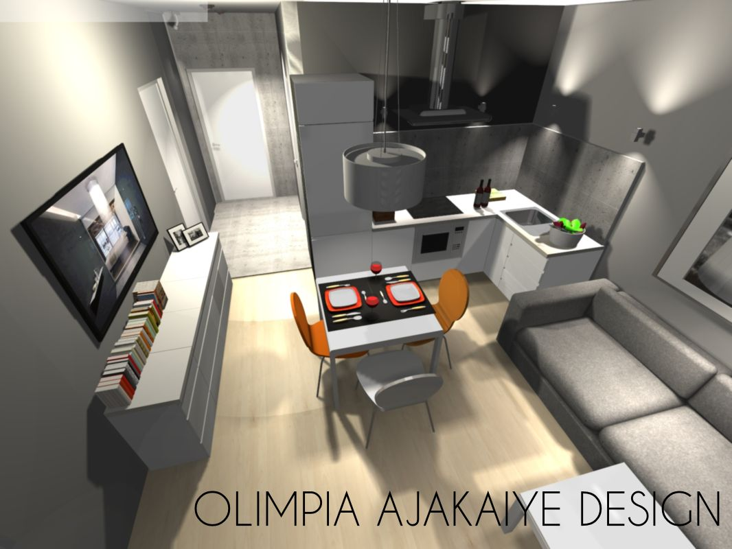 Małe Mieszkanie Kraków Olimpia Design